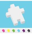Pixel art style isometric cursor arrow pack vector image