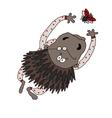 bristling porcupine vector image