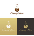 coffee shop logo template natural abstract coffee vector image
