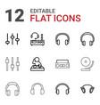 12 dj icons vector image vector image