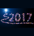 2017 new year luminous background vector image vector image