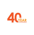 40 year excellence template design vector image vector image