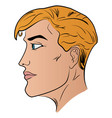 a man cartoon head profile pattern vector image