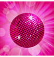 abstract pink disco ball background vector image vector image