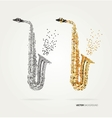 Abstract saxophone of colored dots vector image vector image