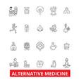 Alternative medicine healing therapy vector image