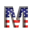 American cutted figure m Paste to any background vector image