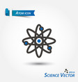 atom icon scientific vector image