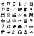 avenue icons set simple style vector image vector image