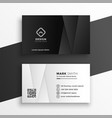 black and white geometric business card design vector image vector image