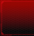black chinese background with red border vector image vector image