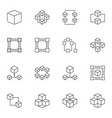 blockchain icons or logo elements in vector image vector image