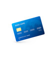 blue credit card template of credit card isolated vector image