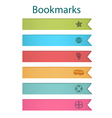 Bookmark icons bright vector image vector image