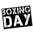 boxing day stamp on white vector image