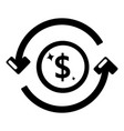 circulation money icon simple black style vector image