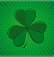 clover on green retro background vector image vector image