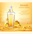 collagen serum and vitamin background skin care vector image vector image