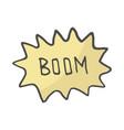 color speech bubble boom comic book explosion vector image