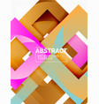 color square composition with text geometric vector image vector image