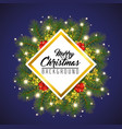 colorful and bright merry christmas background vector image