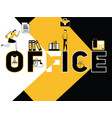 creative word concept office and people activity vector image