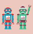 Cute vintage robot vector | Price: 1 Credit (USD $1)