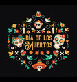 day of the dead spanish language sugar skull card vector image vector image