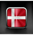Denmark icon flag national travel icon country vector image vector image