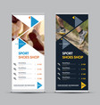 design a universal roll-up banner vector image