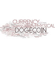dogecoin word cloud concept vector image vector image