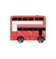 doodle london bus urban city transport vector image vector image