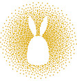 easter rabbit silhouette vector image