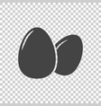 egg icon flat on isolated background vector image vector image