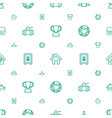 eps icons pattern seamless white background vector image vector image