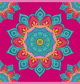 flower mandala colorful background for cards vector image vector image