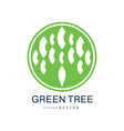 green tree logo original design green eco and bio vector image vector image