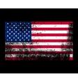 grunge flag america vector image
