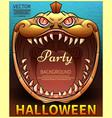 halloween poster comic pumpkin vector image
