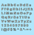 hand drawn doodle fontset sketch alphabet vector image