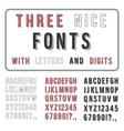 hand drawn font set handwriting alphabet abc vector image
