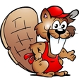 Hand-drawn of an Beaver Serving Guests vector image vector image