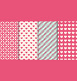 heart seamless pattern background set vector image