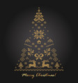 knitted patterned ornaments on card in vector image vector image
