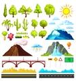 Landscape Constructor Elements Set vector image vector image