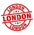 london red round grunge stamp vector image vector image