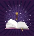 magic open book vector image
