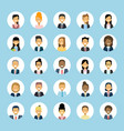 man and woman avatars set businessman and vector image