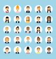 man and woman avatars set businessman vector image
