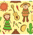 Mexican culture seamless pattern vector image vector image